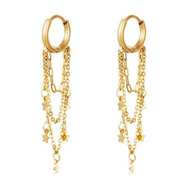 Σκουλαρίκια Staybright Golden -Chain
