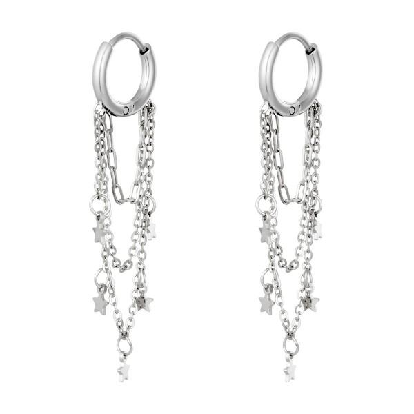Σκουλαρίκια Staybright Silver-Chain