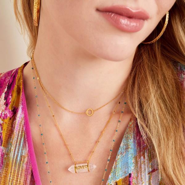 Staybright Quartz Love necklace