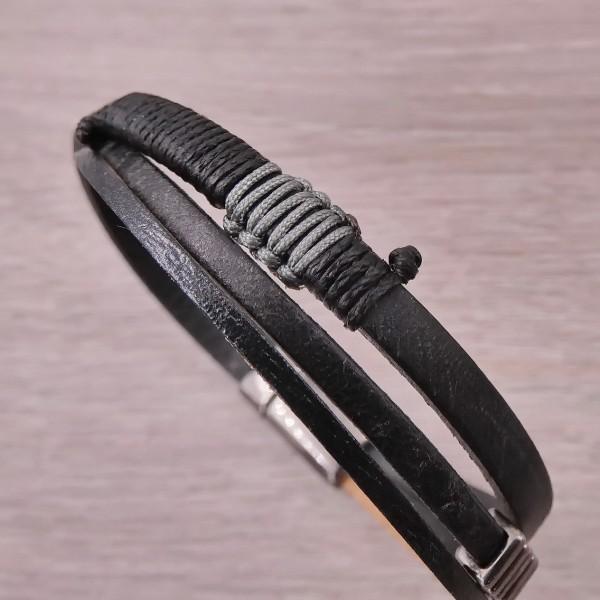 Ανδρικό βραχιόλι Polly Leather