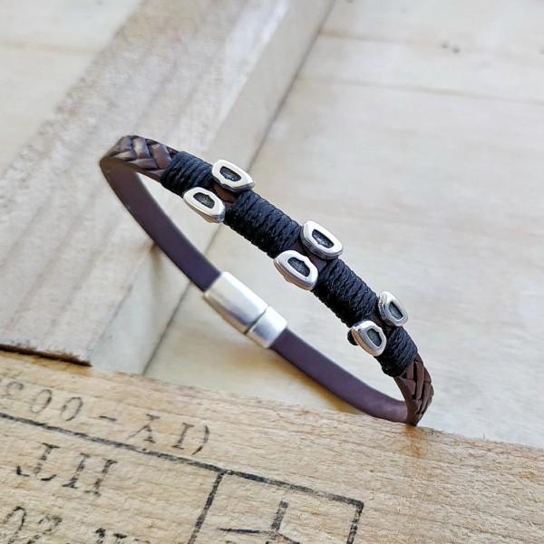 Ανδρικό βραχιόλι Chester Leather