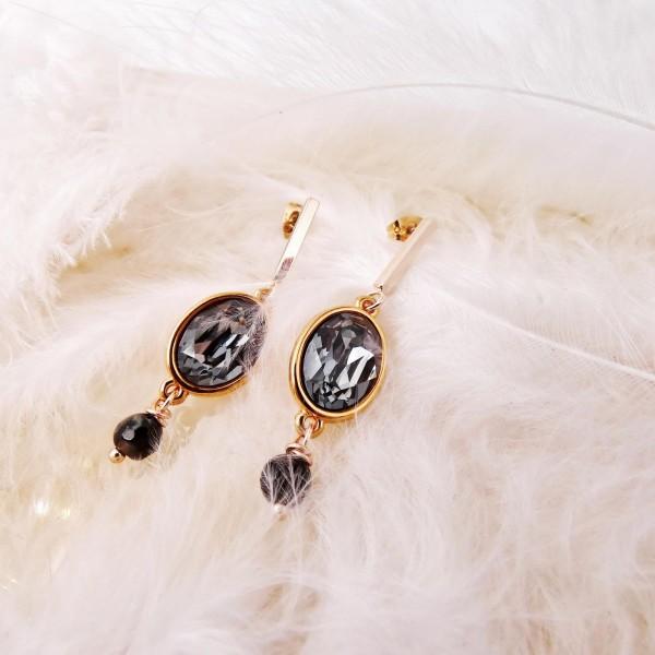 Σκουλαρίκια Sehrazat με κρύσταλλα Swarovski