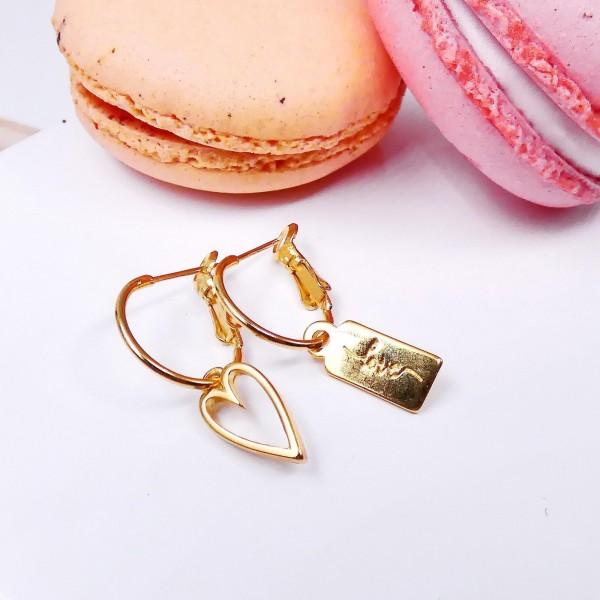Σκουλαρίκια Golden Love