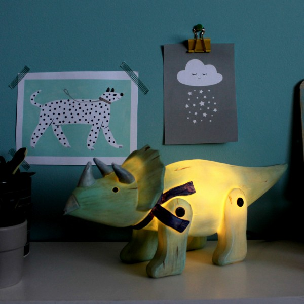 Φωτιστικό Wood Effect Cute Triceratops