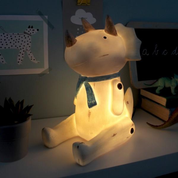 Φωτιστικό Wood Effect Cute Sitting Triceratops