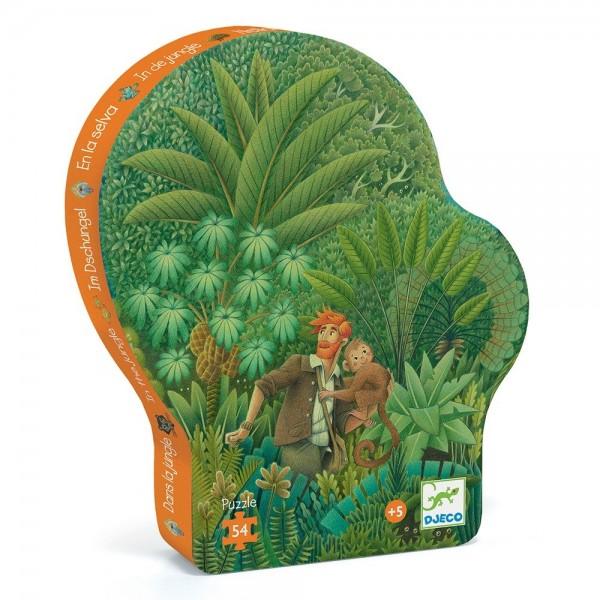 Djeco Jungle puzzle in shaped box