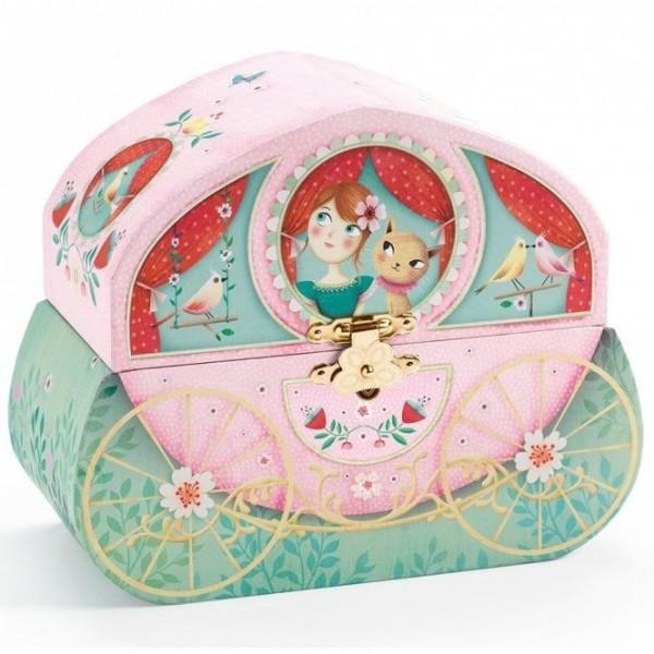 """Djeco """"Princess Ride"""" Jewelry Music Box"""