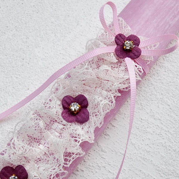 Lace Flower Easter Candle