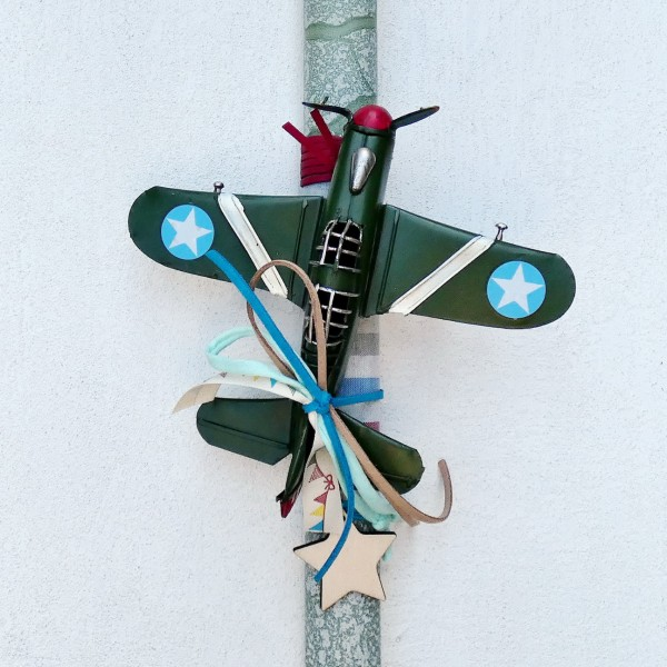 Easter Candle with Aircraft