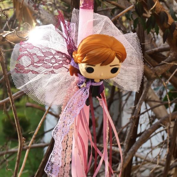 """Λαμπάδα """"Frozen"""" με την πριγκίπισσα Άννα"""