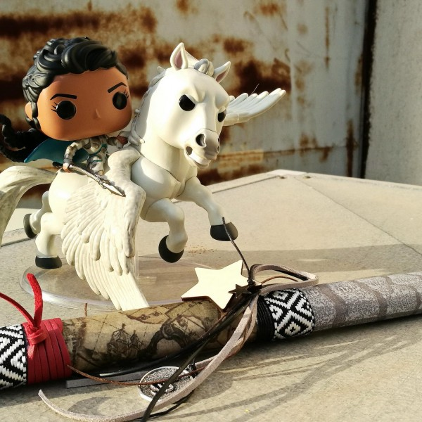 Easter candle with Avengers Valkyrie on Horse