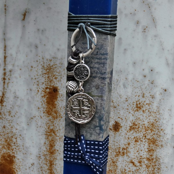 Easter candle with men keyring