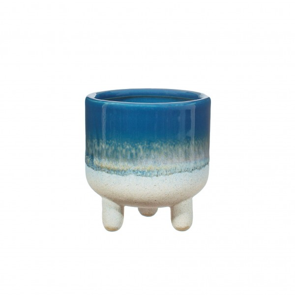 Mojave Glaze blue mini Planter