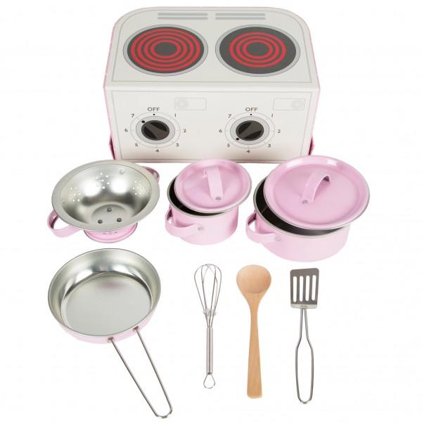 Pastel Pink Play Cooking Set