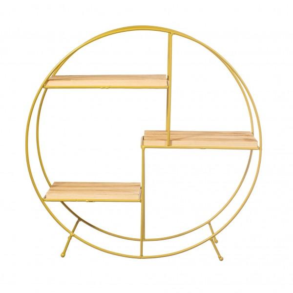 Round Shelf - Antique Gold