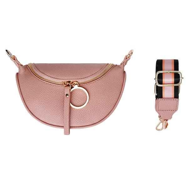 Shoulder Stripe Vintage Pink Mini Bag