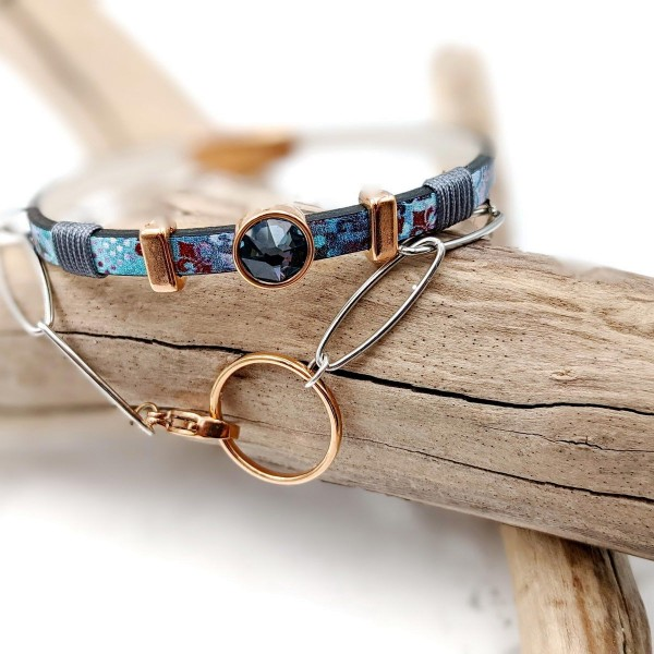 Peaky Leather bracelet and chain set