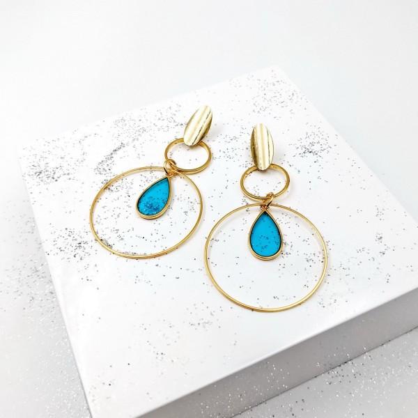 Lizzie Vitraux Hoops Earrings