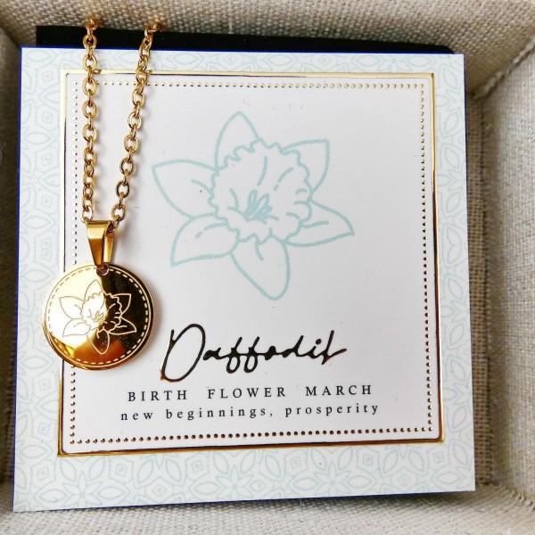 Κολιέ Birth Flower - Daffodil for March