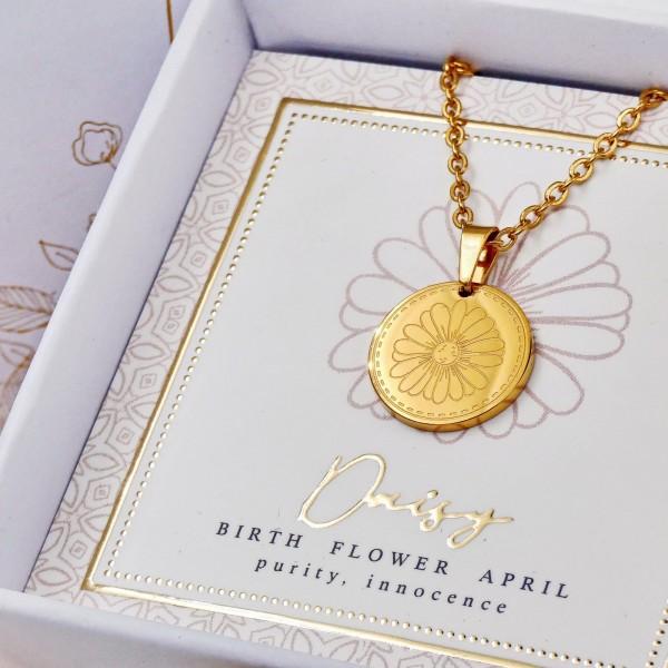Κολιέ Birth Flower - Daisy for April