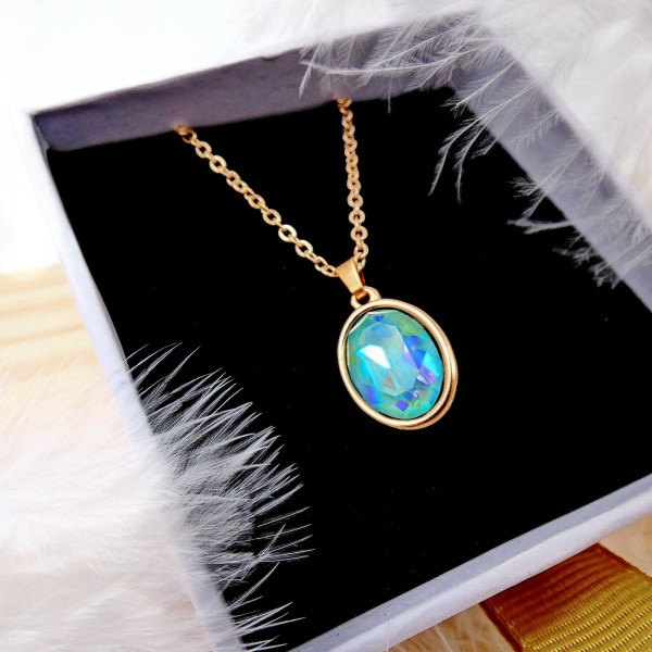 Swarovski Crystal Steel Necklace