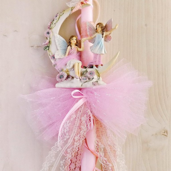 Fairy Ride to the Moon Easter Candle
