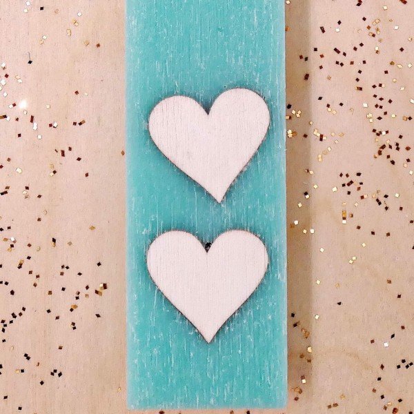 Wooden Heart Easter Candle
