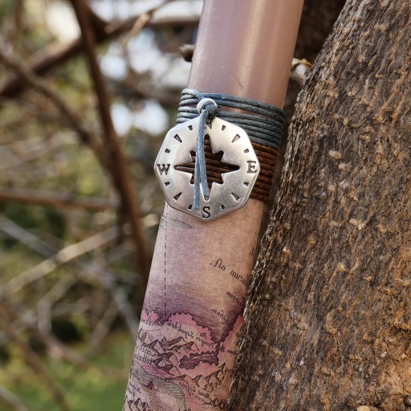 Metal Compass Easter Candle