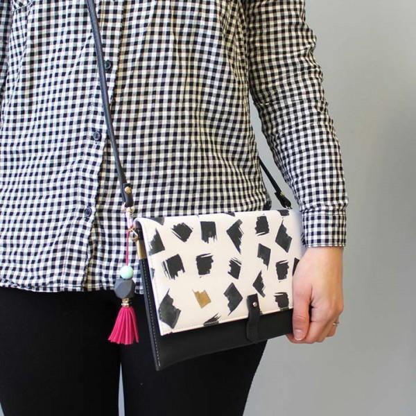Paint Black Disaster Designs Clutch Bag