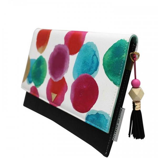 Paint Spot Disaster Designs Clutch Bag