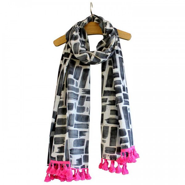 Paint Black Disaster Designs Scarf