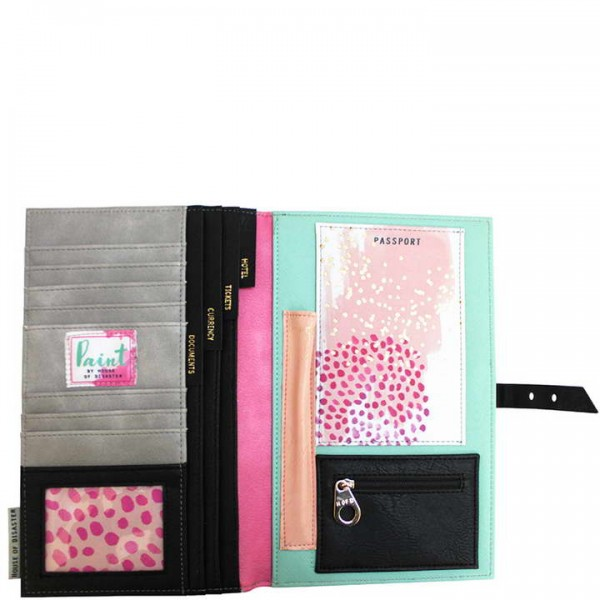 Paint Disaster Designs Travel Wallet
