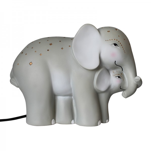 Mother and Baby Elephant Lamp