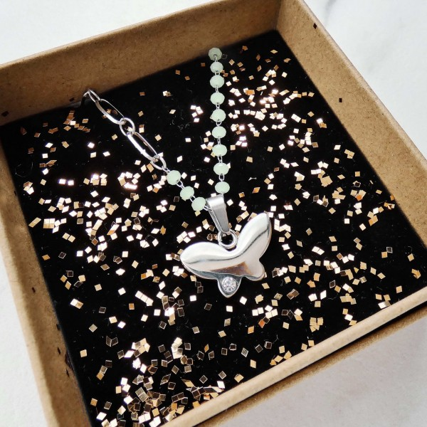 Nymphalida-Stainless Steel Necklace