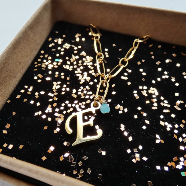 """What's your Name- Stainless Steel Initial """"E"""" Necklace"""
