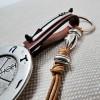 Men's Leather Keyring Wind Rose & Sea
