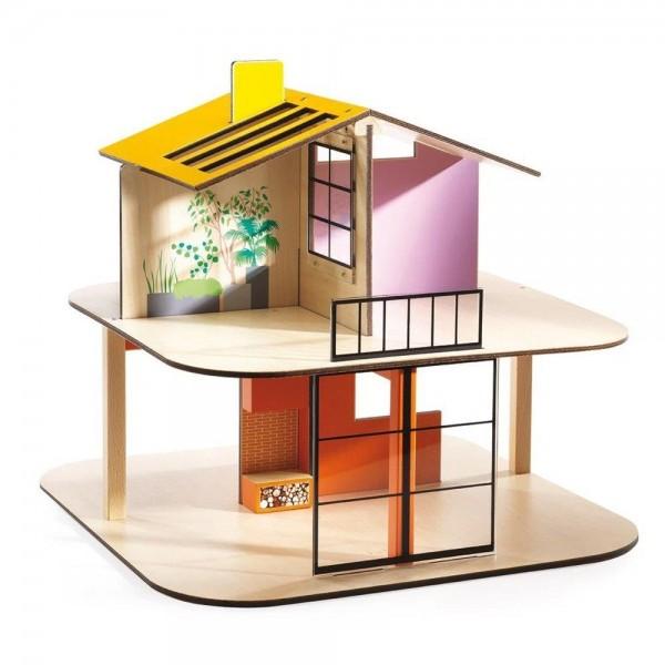 Djeco Κουκλόσπιτο αισθητικής Μοντέρνου κινήματος, φωτεινή στέγη
