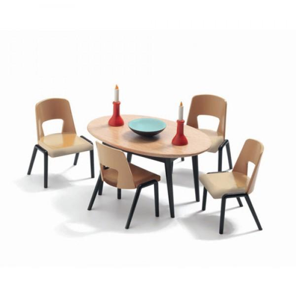 Djeco dining room wooden set